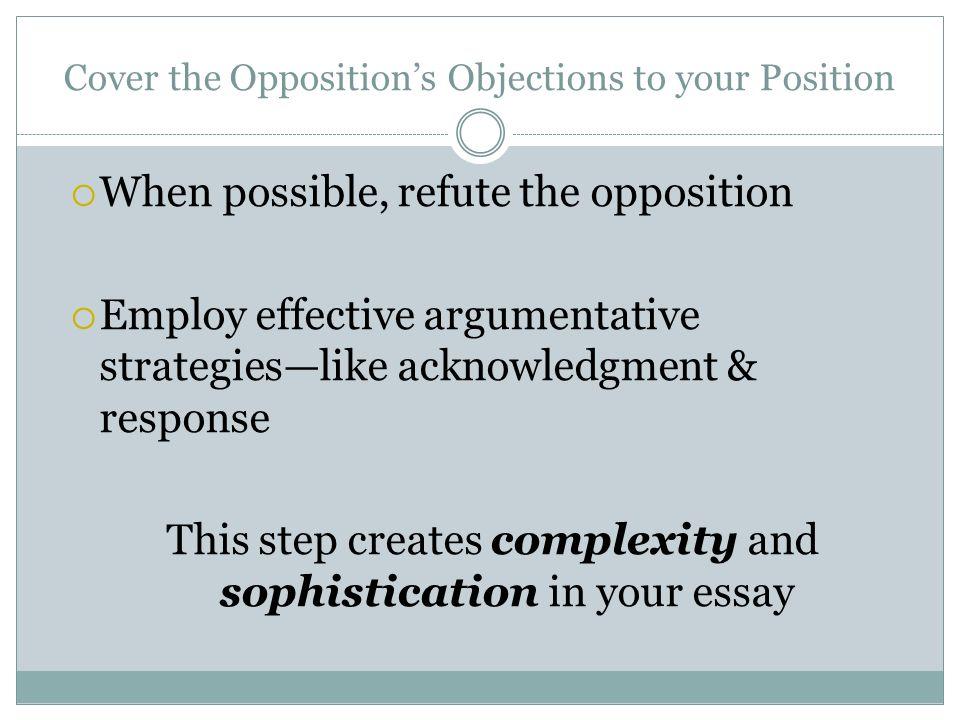 how to write a argumentative essay introduction