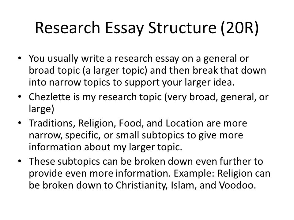 many researches essay