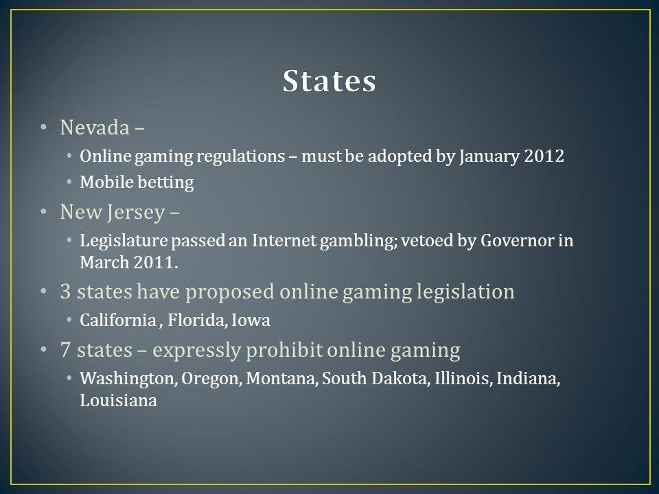 Internet gambling vetoed in new jersey short notice deposits