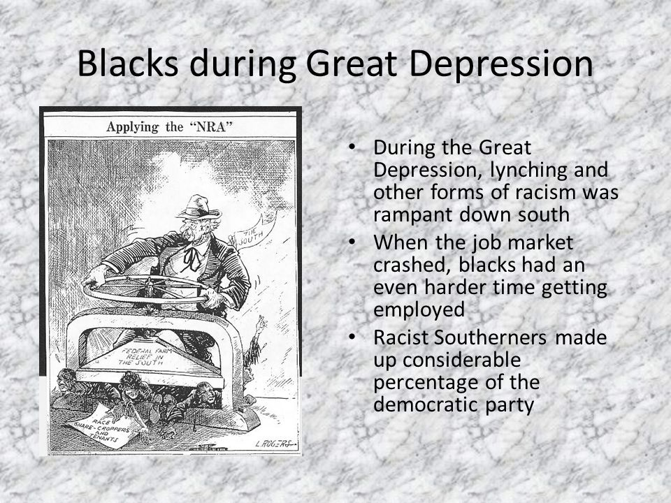 Blacks and the New Deal The Ramifications on Black Society and ...
