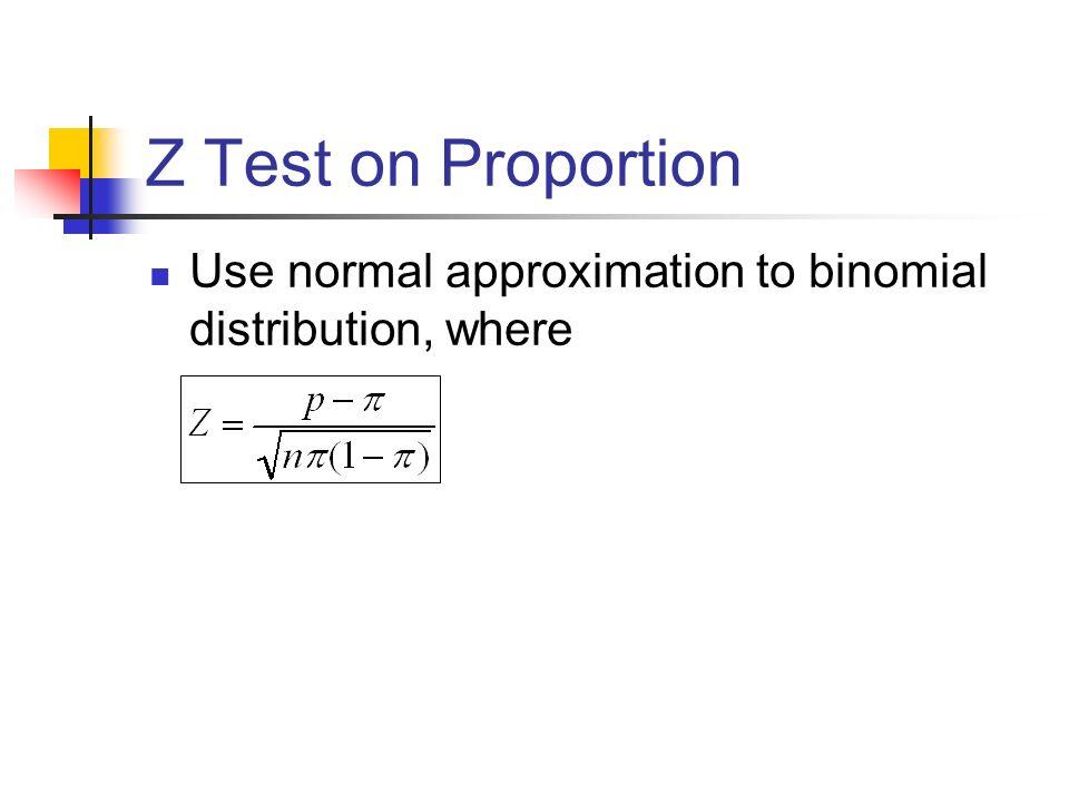 normal test z test