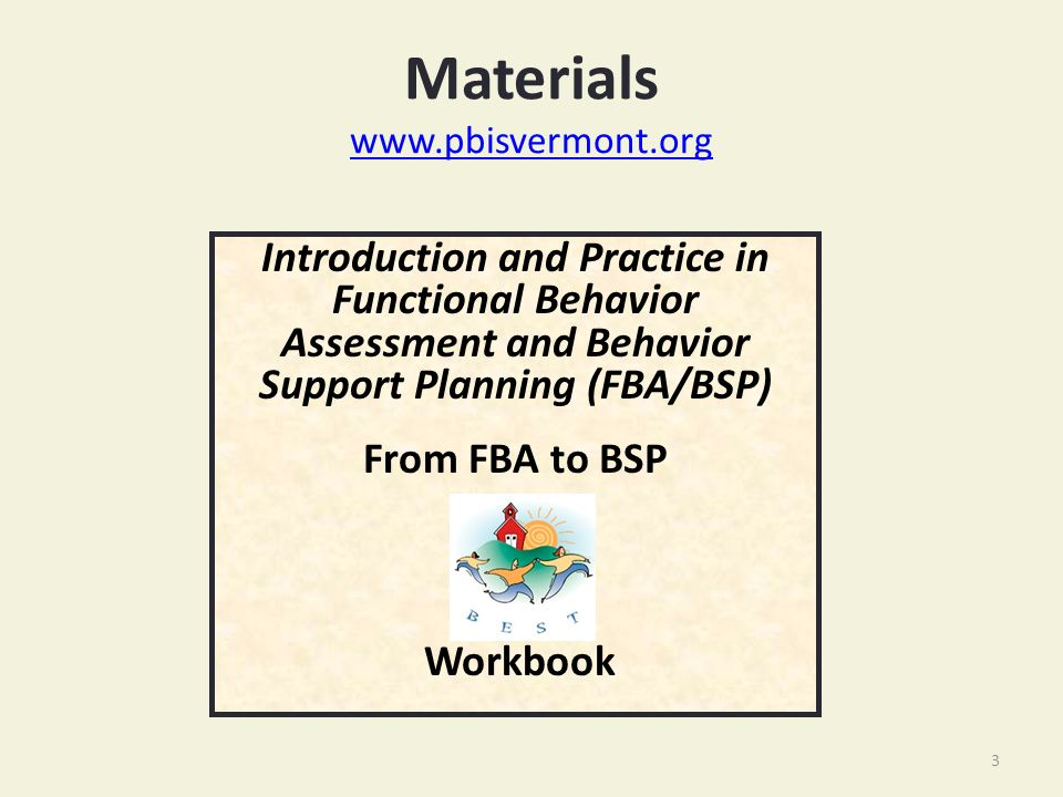 Basic Fba To Bsp Using Functional Behavioral Assessment Fba To