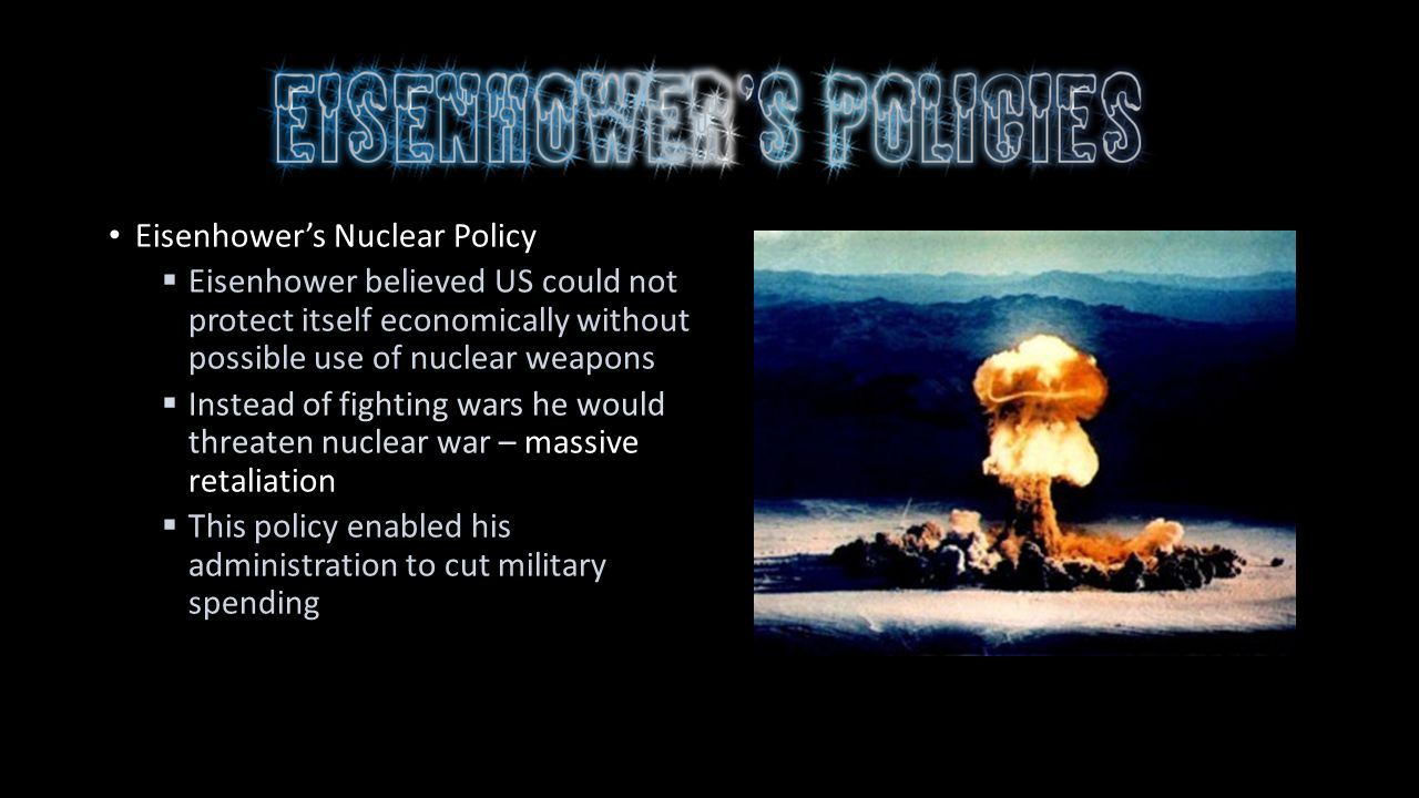 the eisenhower administration and the cold war