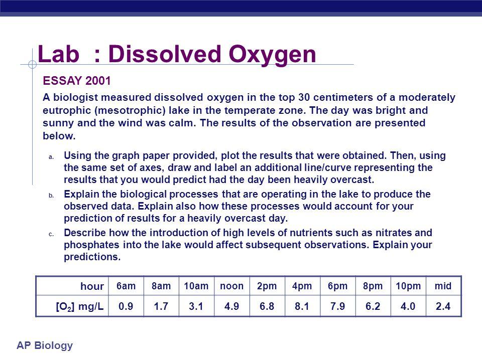 ap biology essay standards 2001
