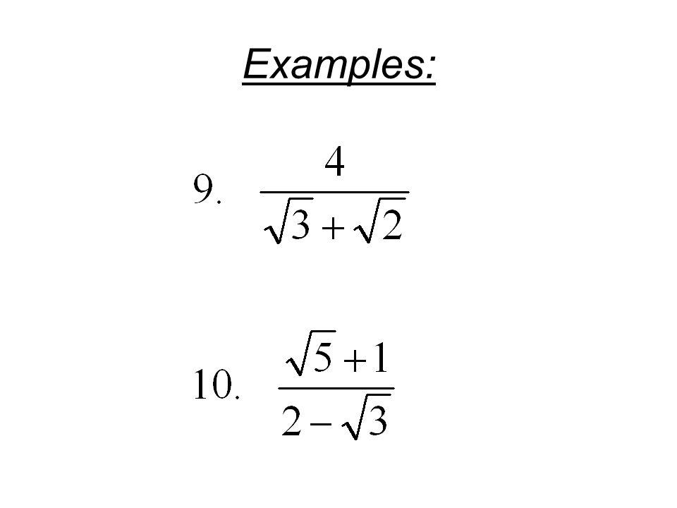 Drill 62 Find the following roots Drill 65 Rationalize the – Dividing Radicals Worksheet