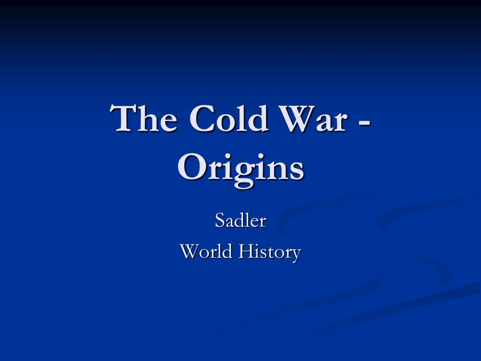 ideological differences of cold war One main conflict between the soviet union was the vast ideological differences a study into the origins and causes of the cold war introduction on april 16.