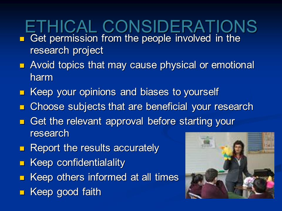 ethical considerations research