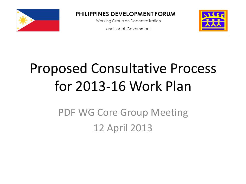 Proposed Consultative Process For Work Plan Pdf Wg Core Group