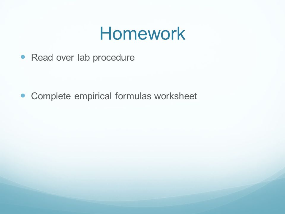 Empirical and Molecular Formulas What formulas???? - ppt download