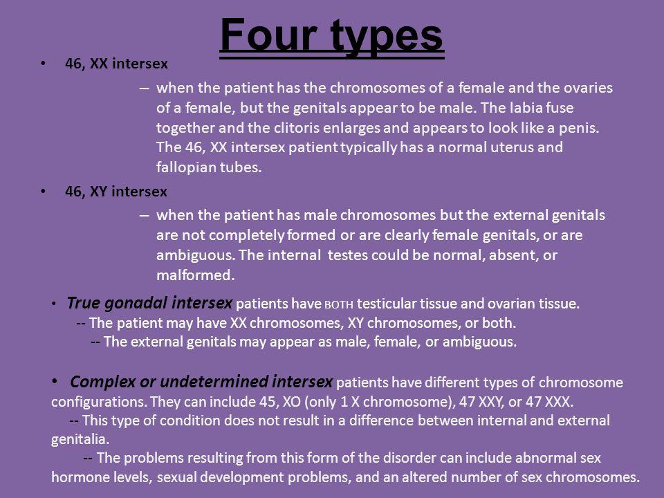 Sex chromosomal abnormality hermaphrodite gender development