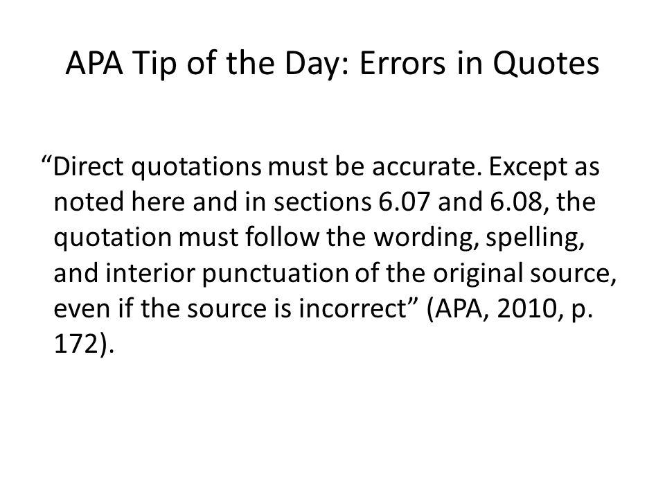 Direct quotation apa