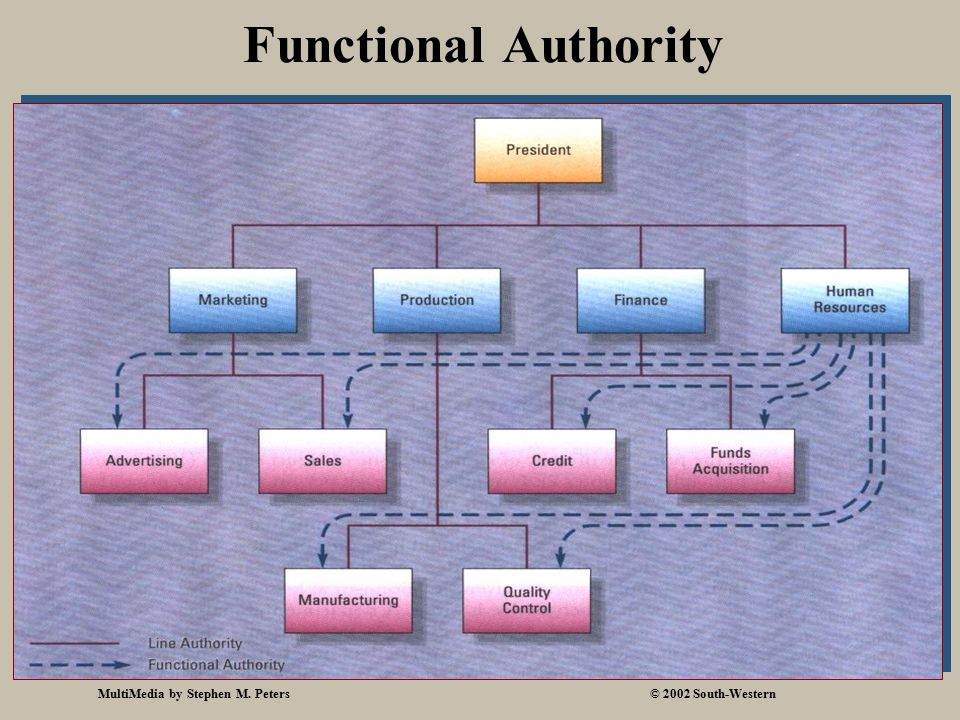 MultiMedia by Stephen M. Peters© 2002 South-Western Functional Authority