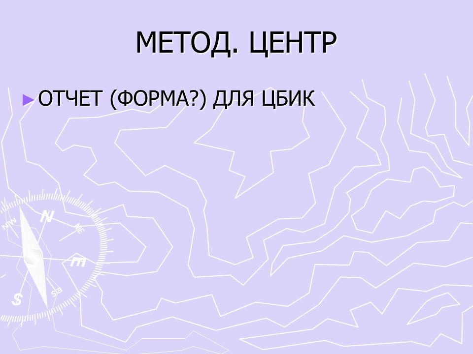МЕТОД. ЦЕНТР ► ОТЧЕТ (ФОРМА ) ДЛЯ ЦБИК