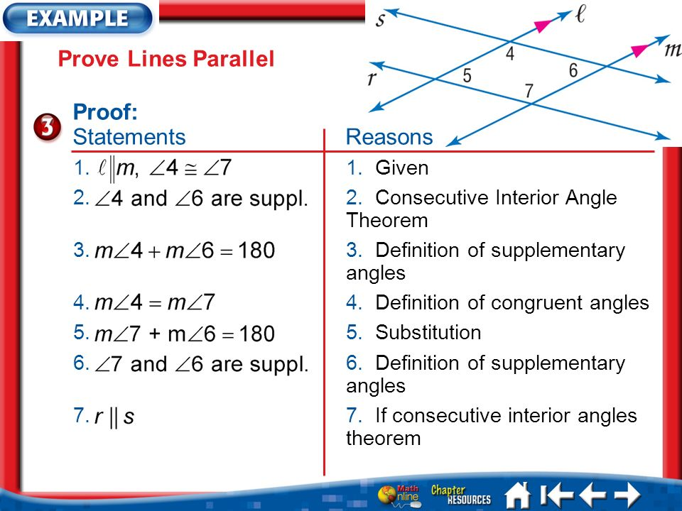 Chapter 3-5 Proving Lines Parallel. Lesson 3-5 Ideas/Vocabulary ...