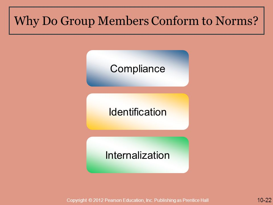 Why Do Group Members Conform to Norms.
