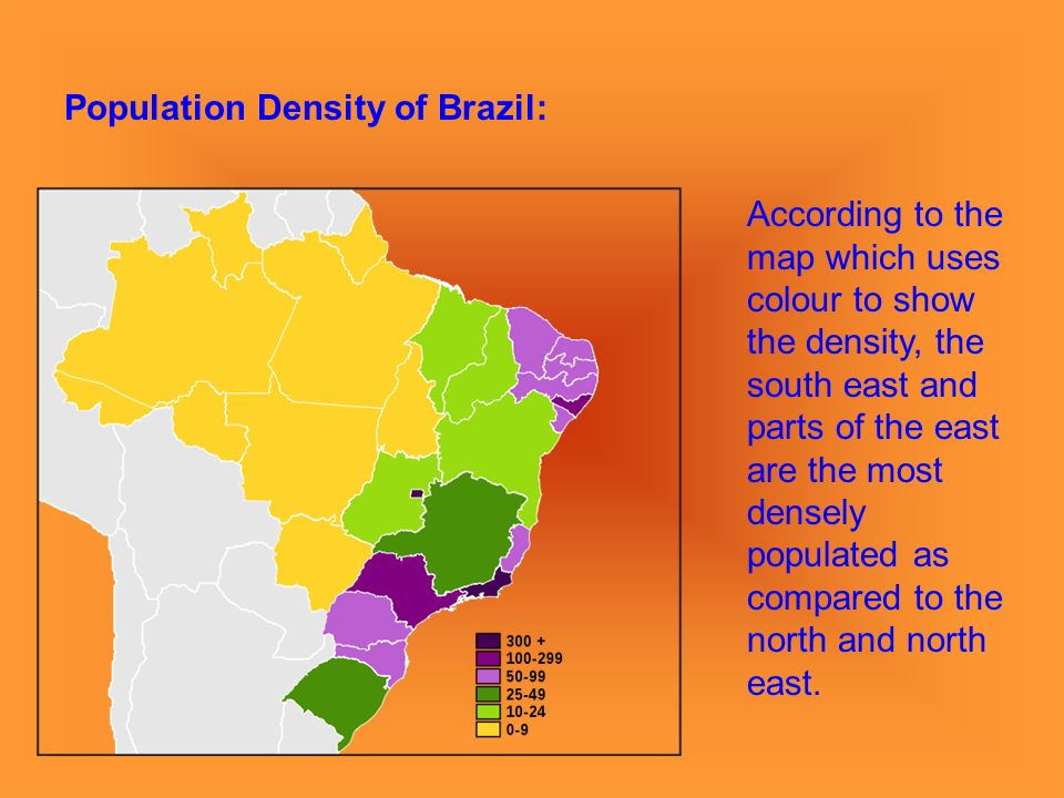 Population Density And Distribution North America And Brazil - Brazil population map