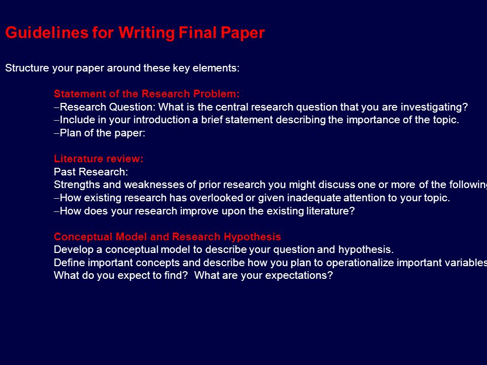 Objective of literature review