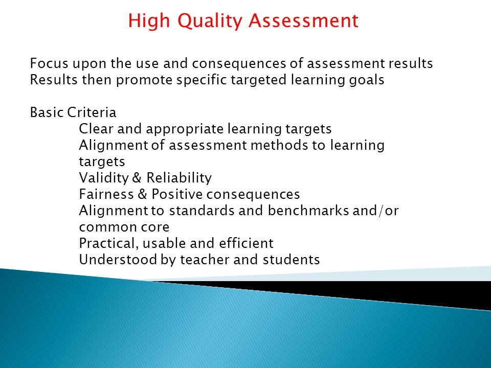 three assessment methods which promote Promoting hygiene the goal of hygiene methods discussed in section 22 can be used with assessment based on agreed goals set at each meeting.