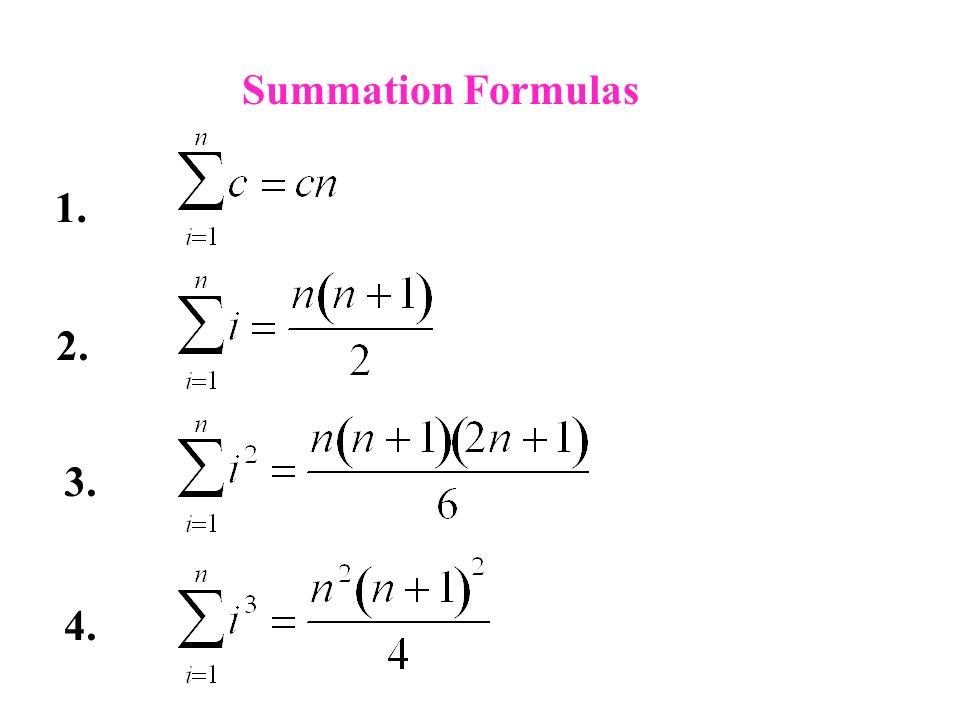 Calculus I - Summation Notation
