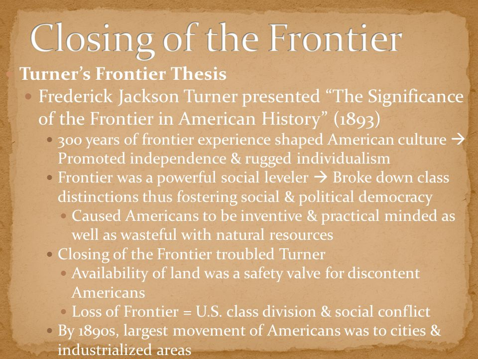frontier thesis significance