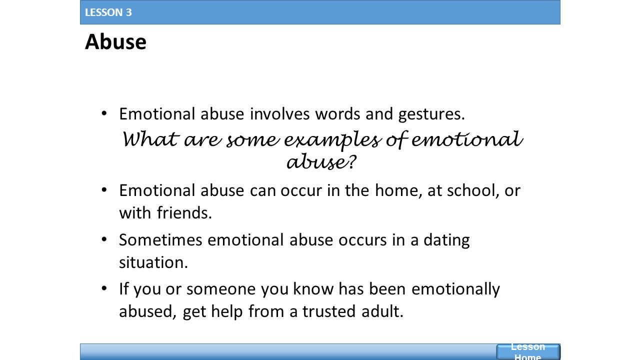 Emotional bullying examples