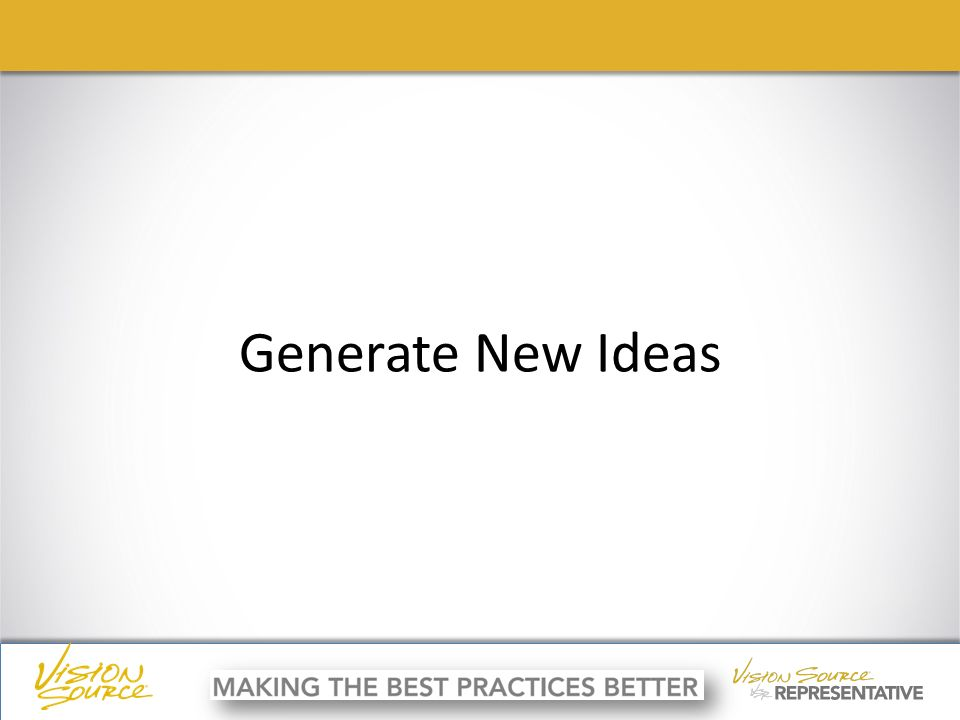 ç ç Generate New Ideas