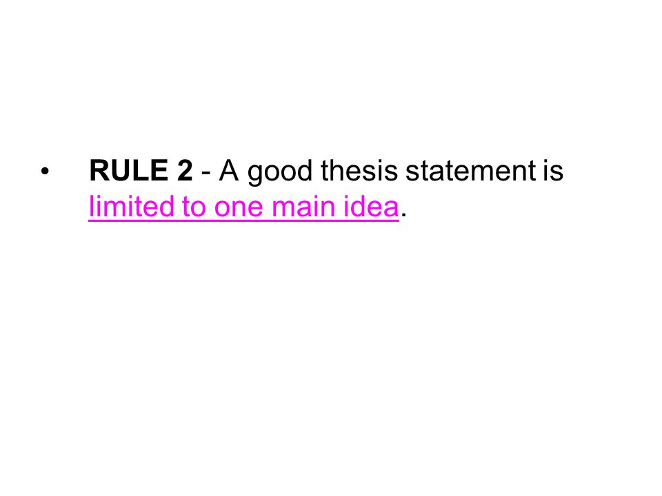 thesis statement for school rules