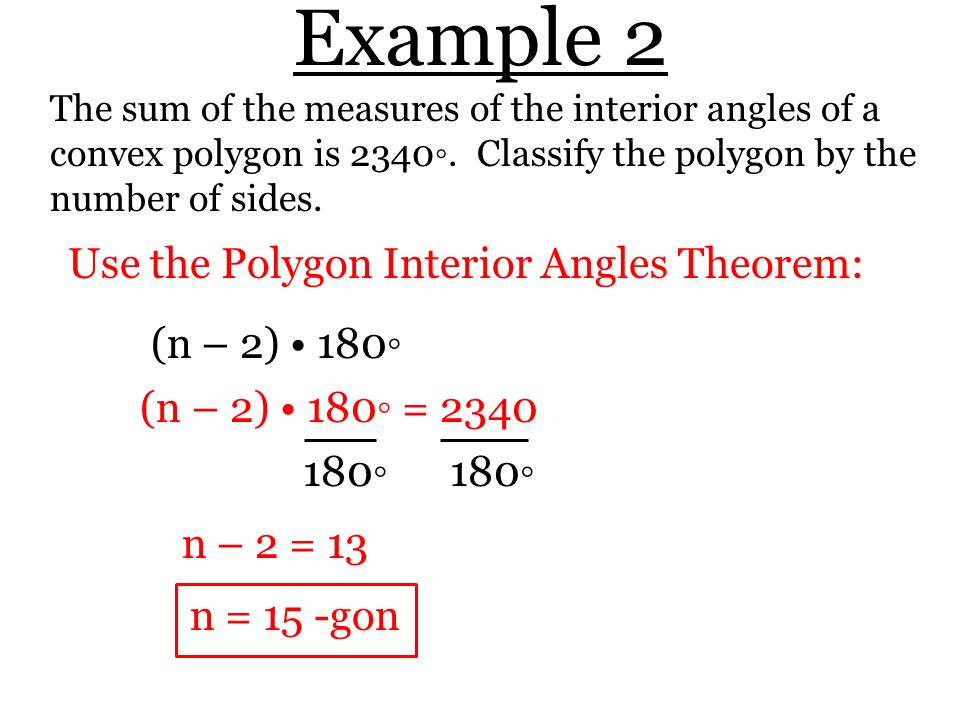 Section 8 1 Find Angle Measures in Polygons Theorem 81 Polygon