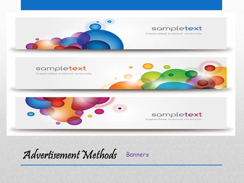 Advertisement Methods Standard Ads