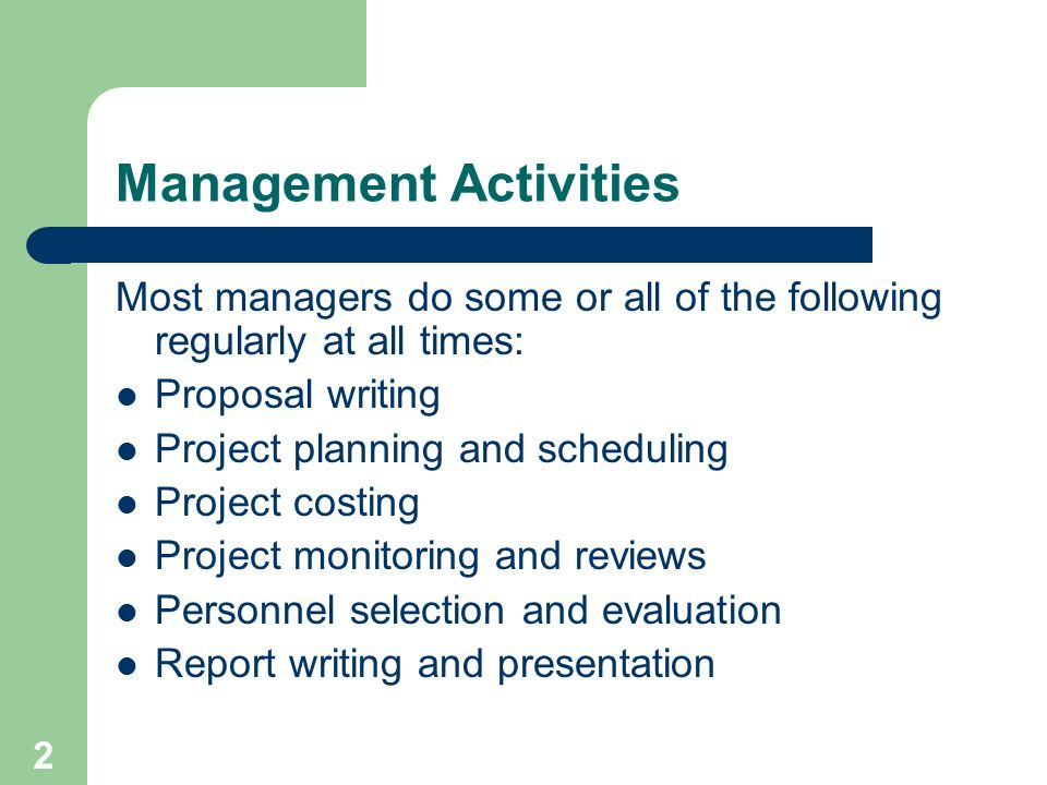 1 Project Management Software Management Is Distinct And Often More