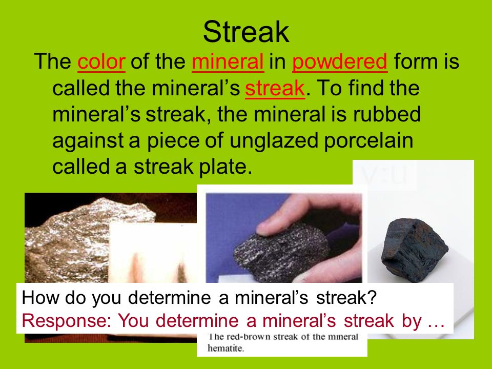 Questions 1.What are some of the special properties of minerals? 2 ...