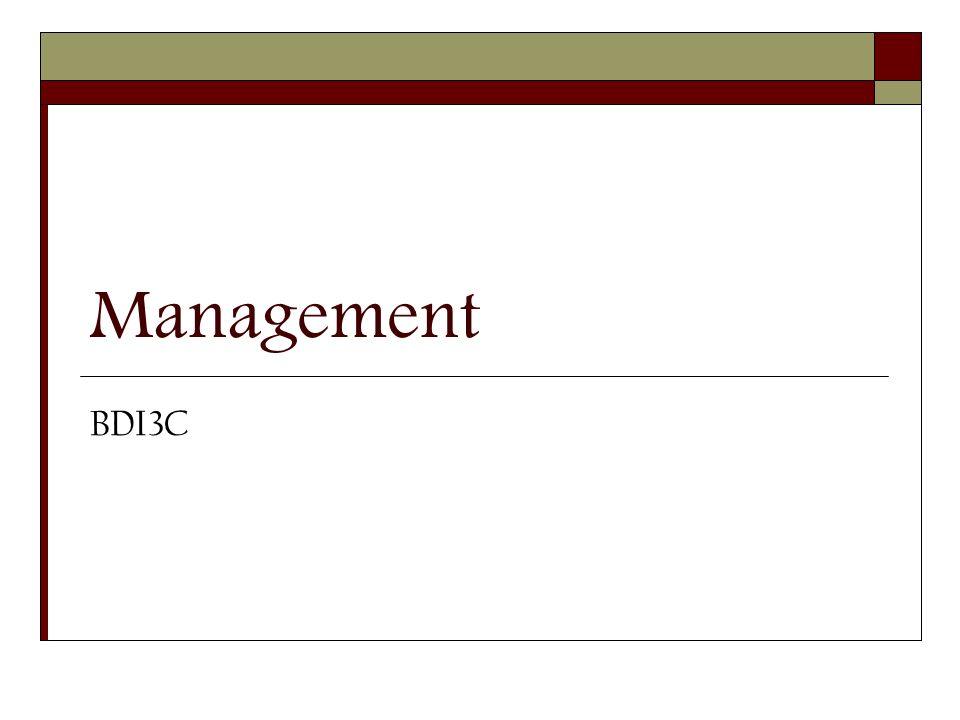 Management BDI3C