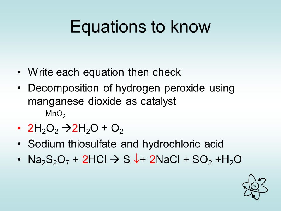 Balanced Equation For The Breakdown Of Hydrogen Peroxide By ...