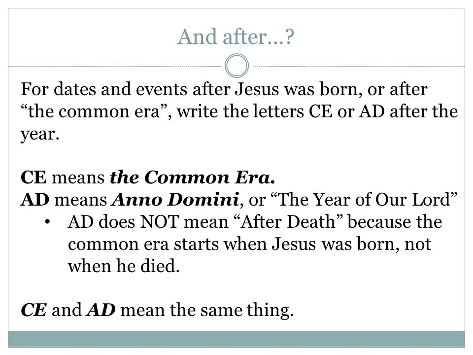 What Does Ce Stand For In Dates