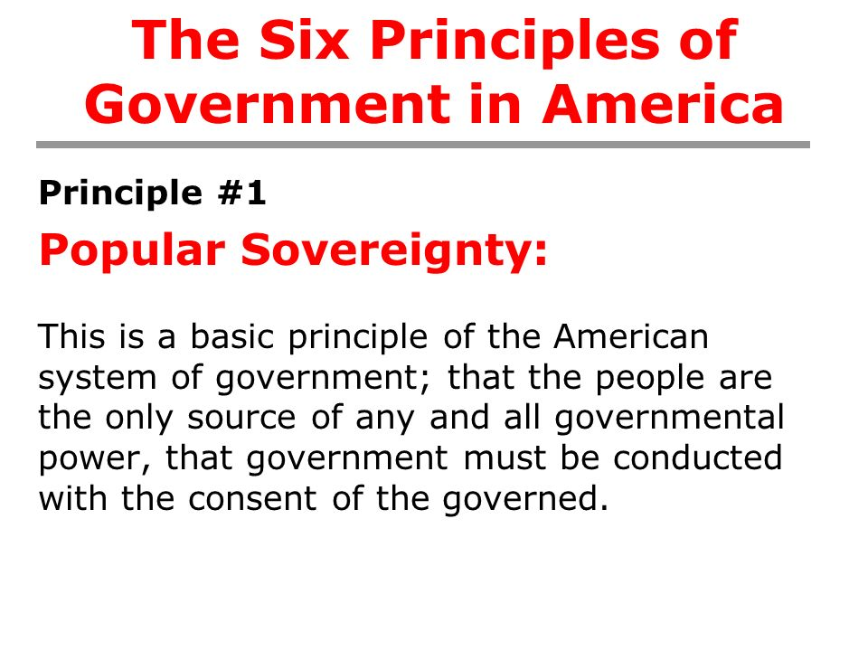 What is the principle of popular sovereignty?