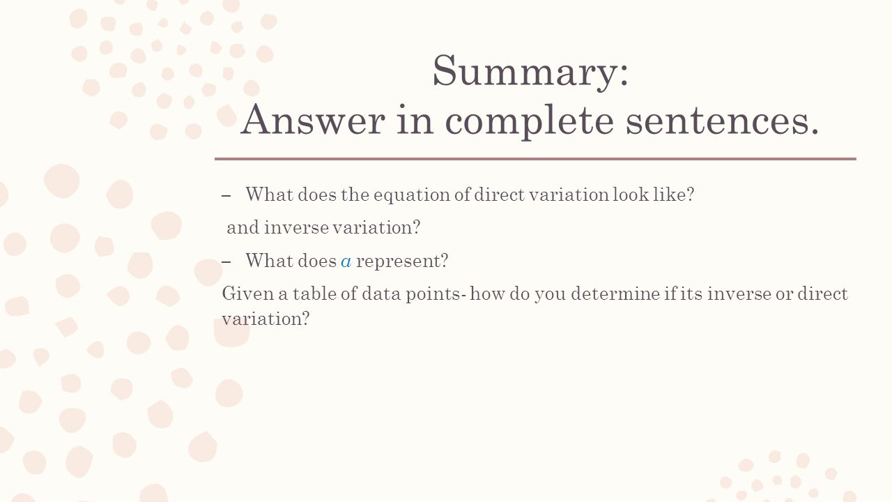 Direct And Inverse Variation Worksheet Answers Super Teacher
