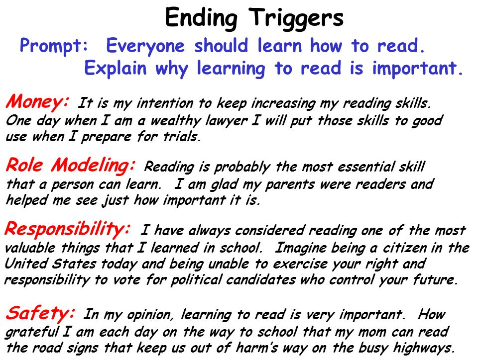 Why is it important to learn how to read?