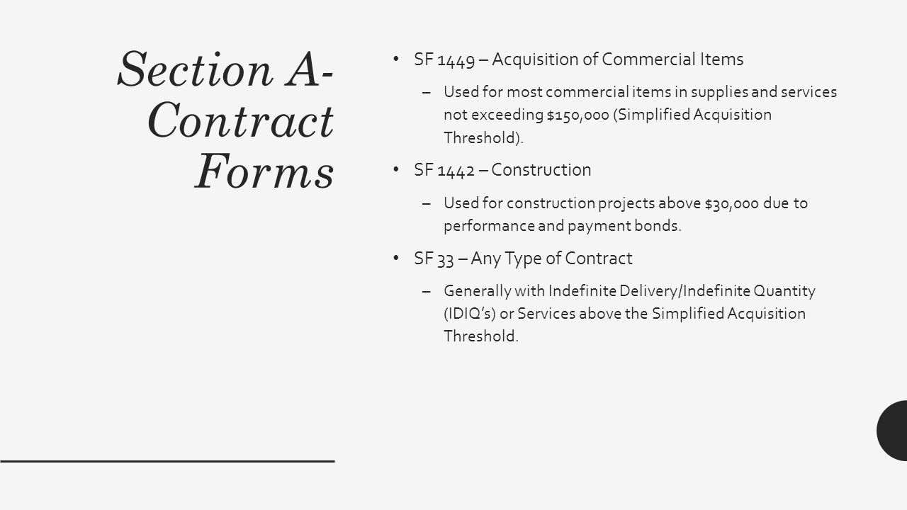 The proposal star yeo contracting officer us forest service section a contract forms sf 1449 acquisition of commercial items used for most falaconquin