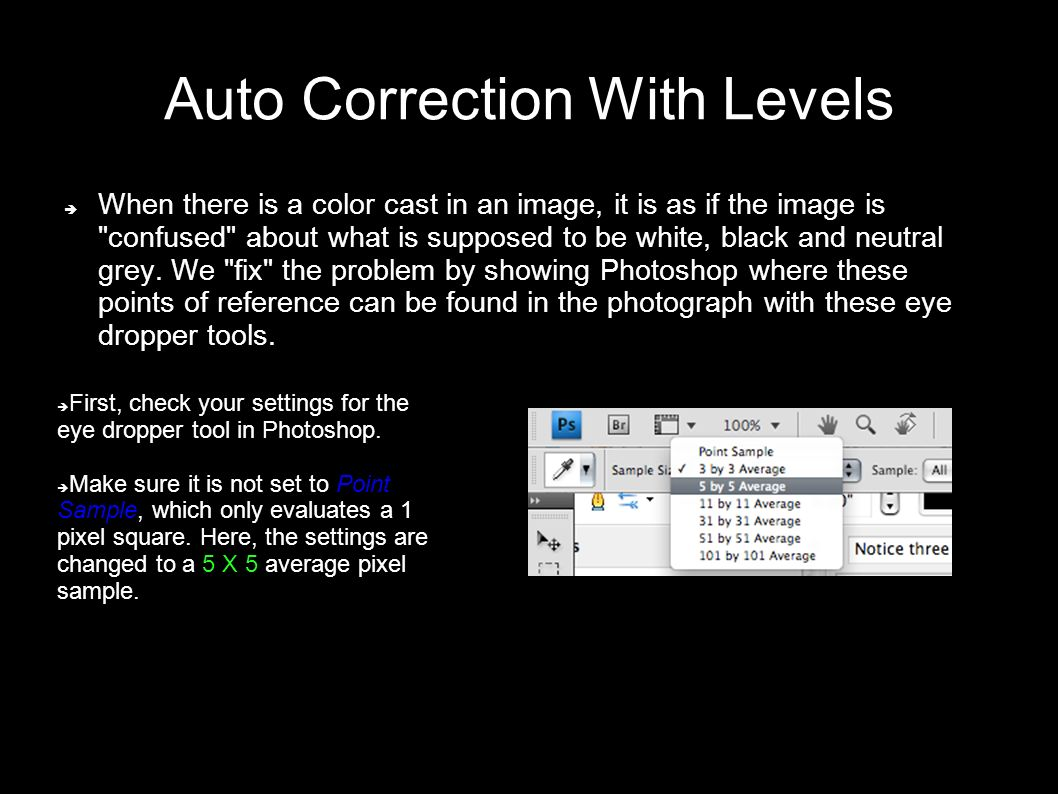 How to fix color cast in photoshop - Auto Correction With Levels When There Is A Color Cast In An Image It