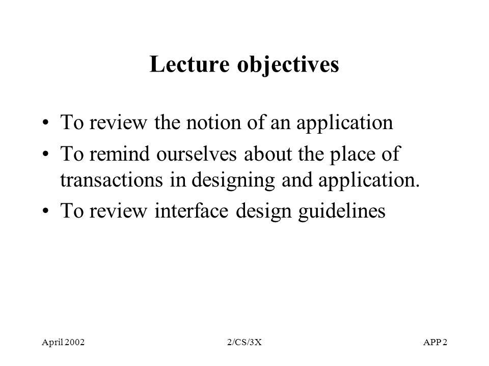 2 april - Database Design Guidelines