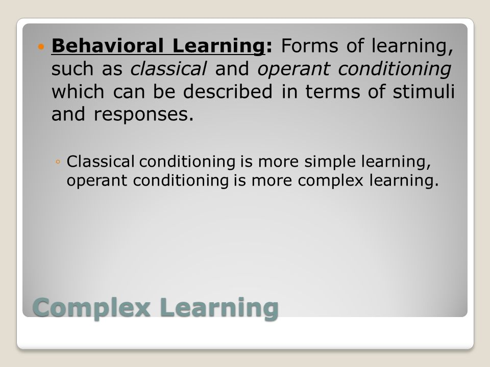 which form of learning classical conditioning