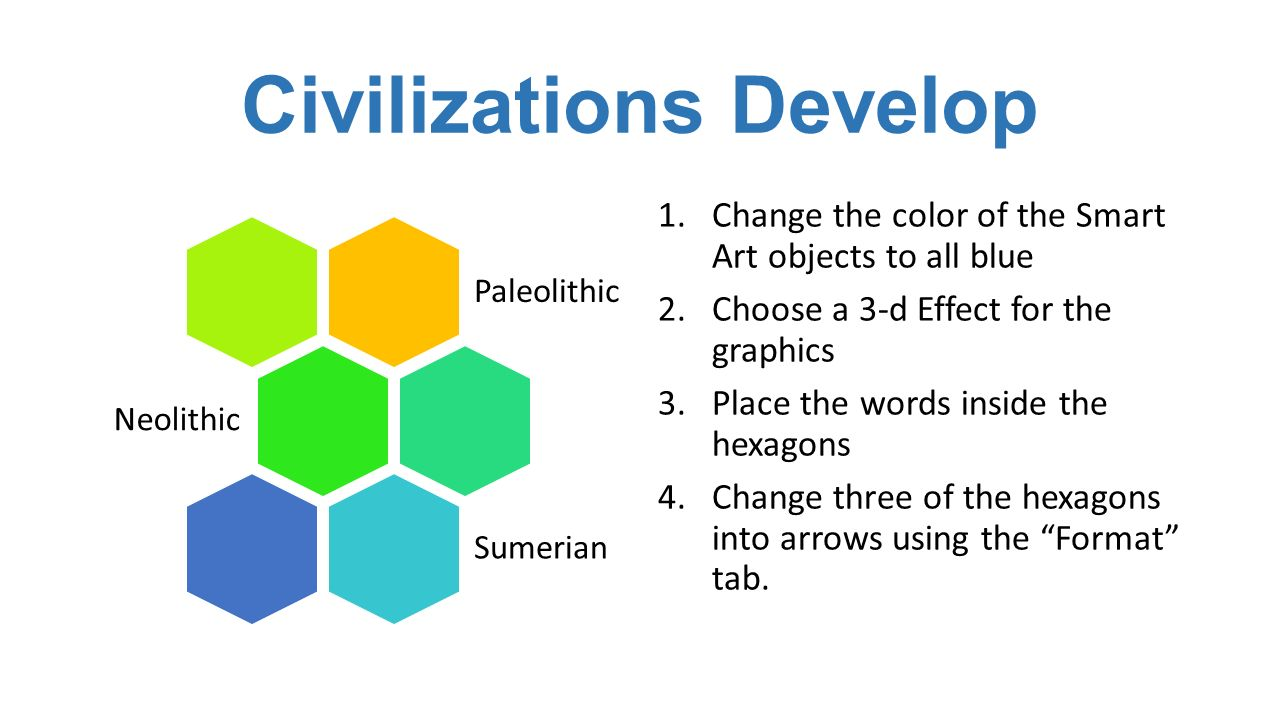 Color art words - 3 Civilizations