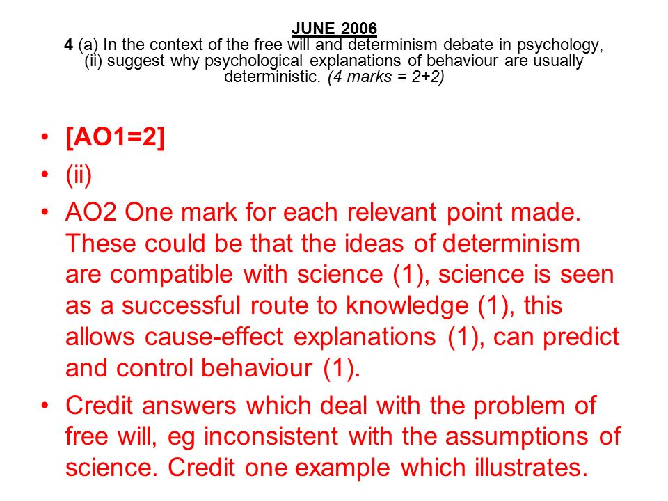 free will vs determinism essay Read this essay on free will vs determinism come browse our large digital warehouse of free sample essays get the knowledge you need in order to.