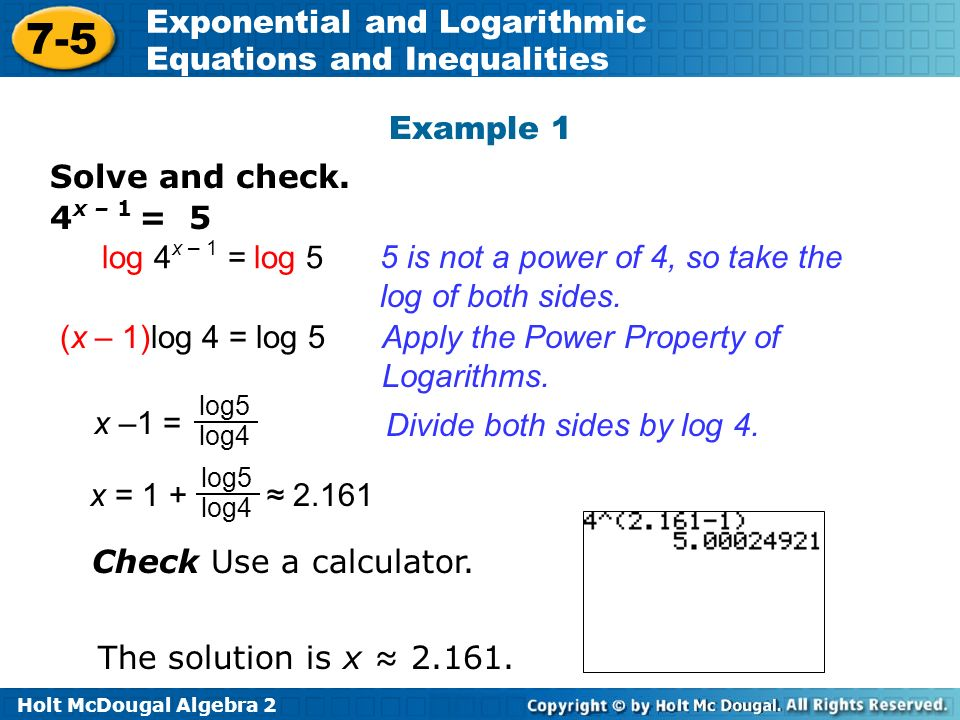 Math Exercises & Math Problems: Exponential Equations and Inequalities