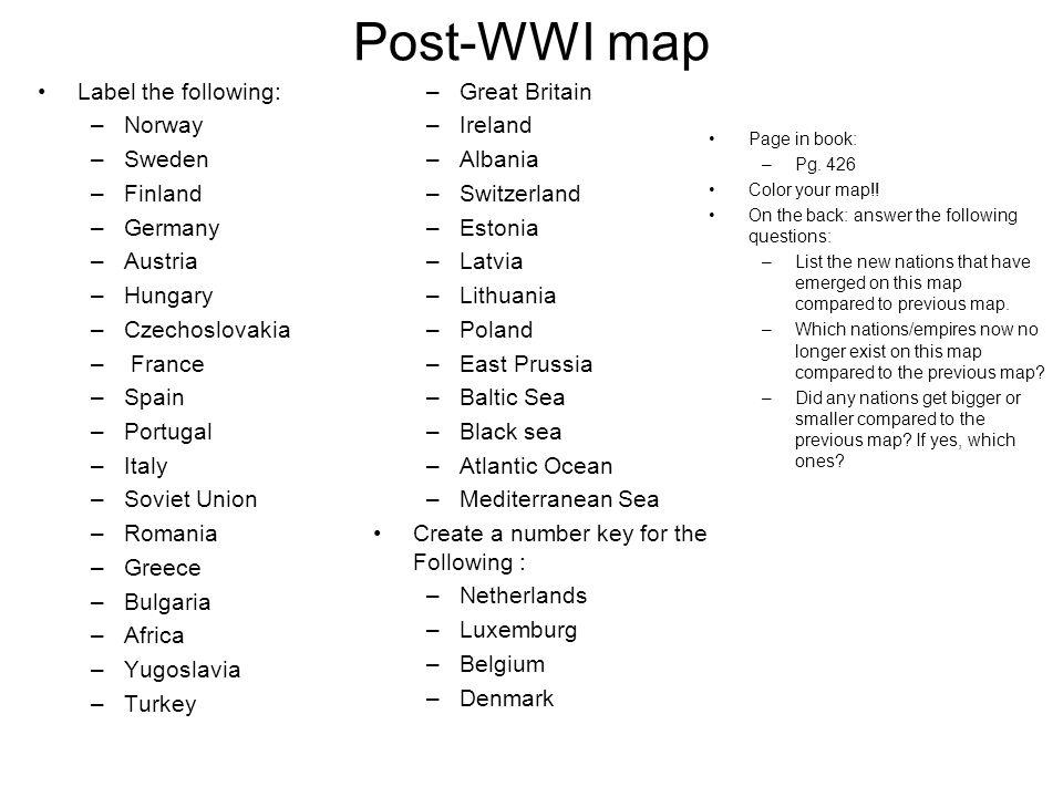 A Worldwide Depression After World War I An Economic Depression - Us map no color