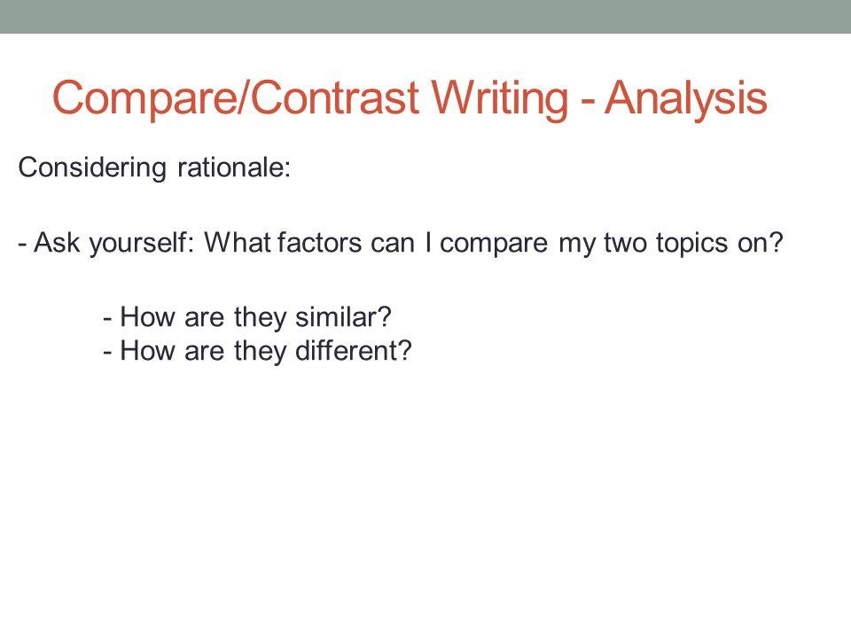good topics for compare and contrast essay Examples of compare and contrast essay topics in order to write a good essay  now i show you how do you write a title for a comparison essay.