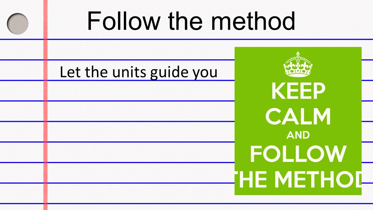 Follow the method Let the units guide you. When nitrogen and ...