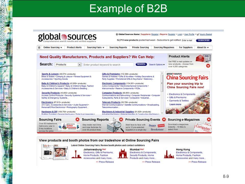 8-9 Example of B2B