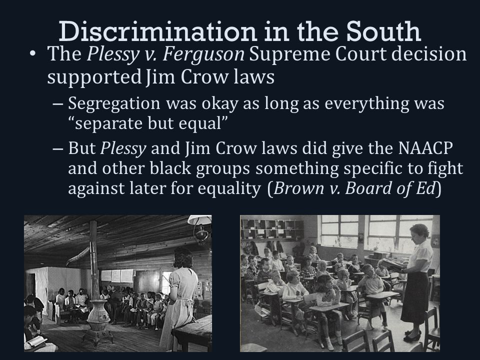 8.3 Segregation and Discrimination. Discrimination in the South ...