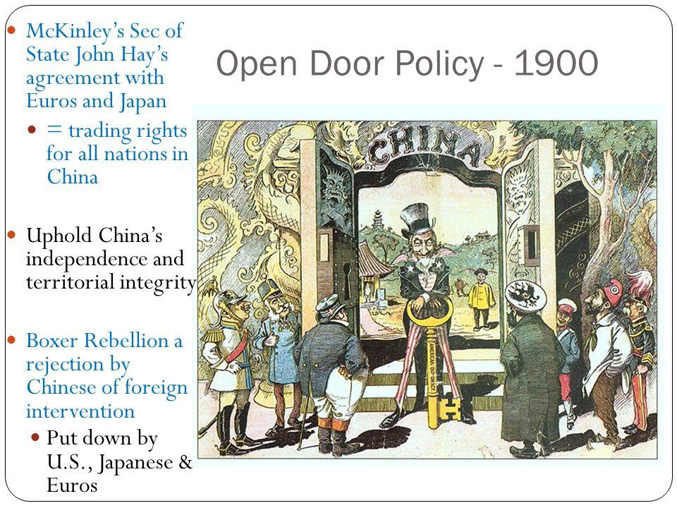 china s open door policy. 23 open door policy china s